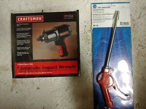 New Craftsman 1 2 Heavy Duty Composite Impact 580 Ft Lbs And Napa Tele Blow Gun
