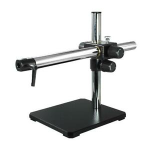 Heavy Duty Microscope Single Arm Boom Stand 380mm Post 544mm Arm
