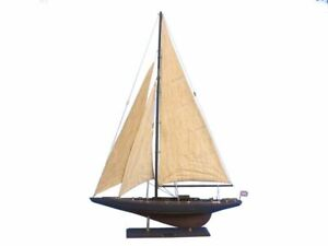 Rustic Endeavour 35 Wood Sailing Boat Wooden Ship Model Model J Yacht N