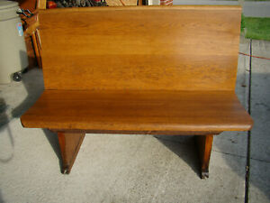 Beautiful 45 Wide Antique Oak Church Bench From Olean Ny 100 Yrs Old