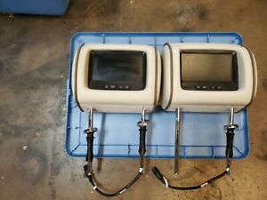 2008 2009 Jaguar Xj8 Xj8l Vanden Plas Front Seat Headrests With Monitors