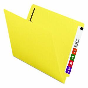 Lot Of 100 Smead 25940 Yellow End Tab Letter Fastener File Folders
