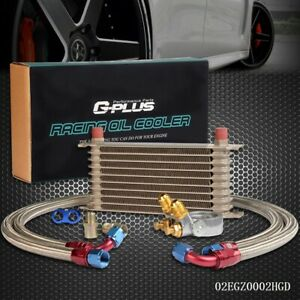 Gplus 10 Row An10 Thermostat Adaptor Engine Oil Cooler Kit 2 Oil Lines