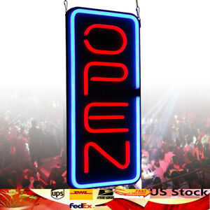 Vertical Open Pizza Led Lights Business Store Bar Retail Signs Neon Light Us