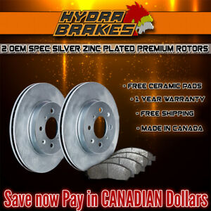 Fits 2003 2004 Ford Expedition 4wd Oe Blank Brake Rotors Ceramic Slv F
