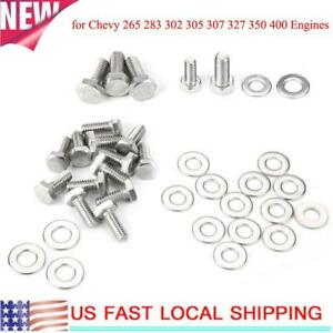 For Chevy 265 283 302 305 307 327 350 400 Engines Repair Tool Hex Bolt Kit New