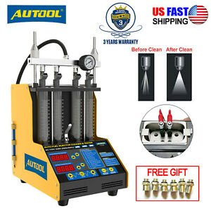 Hot Autool Ct150 4 cylinder Ultrasonic Fuel Injector Tester Cleaner Service Tool