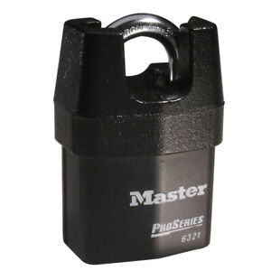 New Master Lock 6321ka 2 1 8 Shrouded Laminated Steel Padlock 10g047 Key Alike