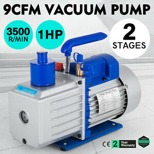 9cfm 2 Stages Vacuum Pump 1hp Air Conditioning 3x10 1pa R22 R410a Rubber Feet