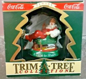 Coca-Cola Trim A Tree Collection A Time to Share Ornament Vintage 1990 Loose
