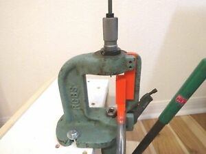 RCBS RS reloading press PRIMER CATHER upgrade. Front output version (red)