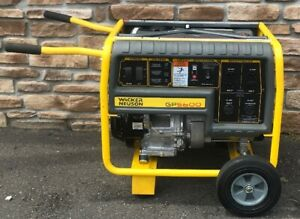Wacker Neuson Gp5600a Gas Generator With Honda Engine Motor Wheel Kit sweet