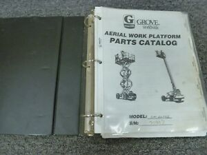 Grove Model Sm2632e Scissor Lift Aerial Work Platform Parts Catalog Manual Book