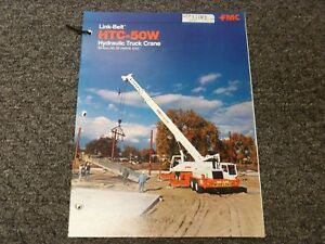 Link belt Htc 50w 50 Ton Truck Crane Specifications Lifting Capacities Manual