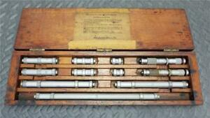 Vintage Lufkin Precision Rule End Measuring Rod Set With 2 Vernier Micrometers