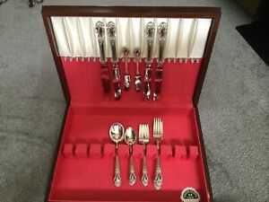 Brocade By International Sterling Silver Flatware Set Service For 4 22 Pcs