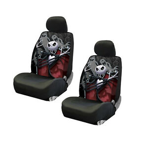 New Disney Jack Skellington Ghostly Low Back Seat Covers Universal Fit 2pc