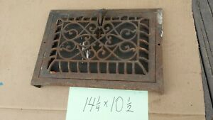 Nice Antique Ornate Cast Iron Wall Heat Vent Register Grate 14 1 4x 10 1 2