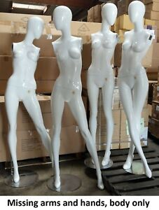 Used Mn bc 1pc Glossy White Female Mannequin No Arms Local Pickup Los Angeles