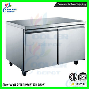 Under Counter Refrigerator Counter Work Top Commercial Cooler 48 New Nsf Etl
