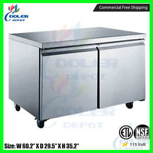 Under Counter Refrigerator Counter Work Top Commercial Cooler 60 New Nsf Etl