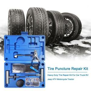 Heavy Duty Tire Puncture Repair Kit For Car Truck Rv Jeep Atv Motorcycle