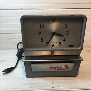 Mid Century Simplex Time Clock Punch Recorder Electric Industrial Architectural