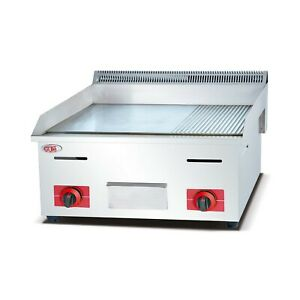 Commercial Stainless Steel Gas Flat groove Surface Griddle