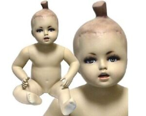 Mn 038 Sitting Baby Toddler Fleshtone Mannequin With Realistic Face