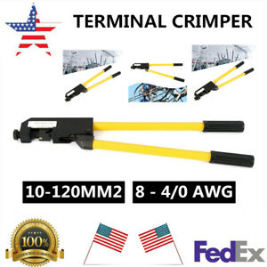 Heavy Duty Wire Terminal Crimper Large Gauge Ring Crimping Pliers Crimping Tool