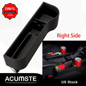 Auto Car Seat Gap Catcher Pu Storage Box Organizer Cup Crevice Pocket Stowing Us