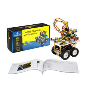 Uno R3 Obstacle Avoidance Wireless Hc 06 Bluetooth Smart Car Kit For Arduino Sz