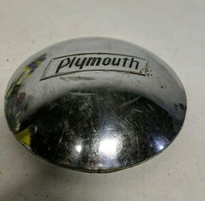 Used Vintage 1940 S Embosed Plymouth Dog Dish Hubcap Cover