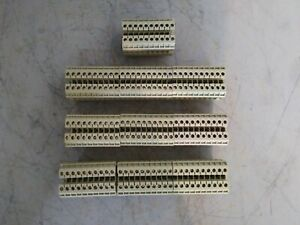 Lot Of 100 Weidmuller Terminal Block 600v 22 12awg Sak 2 5