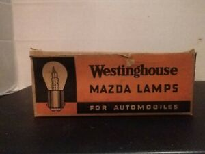 Westinghouse Mazda Automotive Vintage Lamp Bulb 1158 Nos 6v Lot Box Of 10