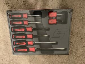 New Snap on Sgdx80br 8 Pc Instinct Soft Grip Combination Screwdriver Set