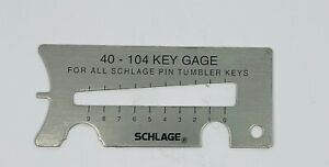 Schlage 4 in 1 Key Gauge Decoder Clip Remover Pin Depressor Locksmith Tool