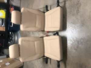Mercedes Ml320 Set Of Right Left Third Row Seat Tan Beige Leather W163 1998 05