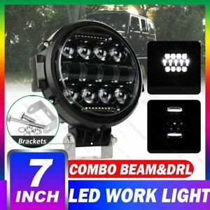 7 Inch Round Led Light External Fog Headlight Lamp Combo Beam Drl Truck For Jeep