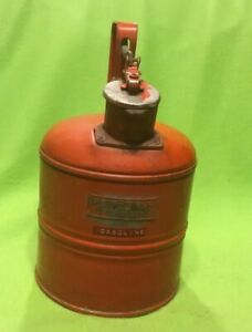 Vintage Gas Can Red Safety Pull Top One Gallon