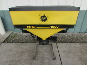 Used Fisher Western 1000 Tailgate Salt Spreader 8 Cu Ft Capacity