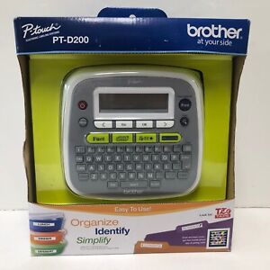 Brother P touch Pt d200 Electronic Labeling System Label Maker Thermal Printer