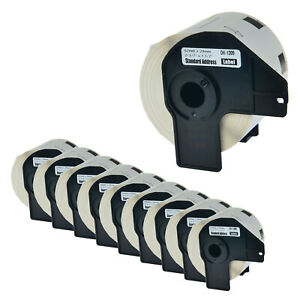 10 Rolls Dk 1209 Dk1209 1 1 7 29mm Address Labels For Brother Ql 500 Ql 710w