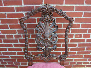 Gorgeous 19th Century Carved Rococo European Chair
