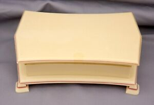 Tusculor Celluloid Jewelry Trinket Box 1920s Art Deco Design In Ivory Color
