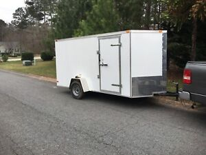 New 2019 6 X 12 V nosed Enclosed Cargo Or Motorcycle Trailer W ramp