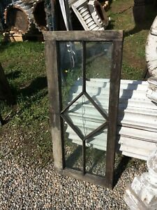 Unique Diamond Pane Sidelight Window Frame Sash 36 X 16 X 1 3 8 Some Glass