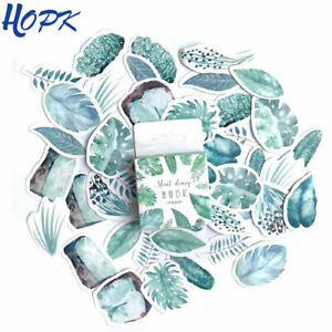 45 Pcs set Green Leaves Stickers Planner Decoration Diary Stick Kawaii Statio