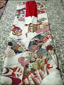 Antique Vintage Chinese Japanese Hand Embroidery Silk Robe Cheast 46 Length63