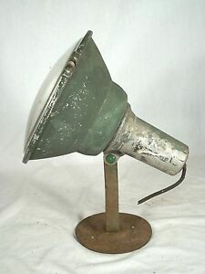 Antique Early 20th Century Steam Punk Industrial Wall Light Spot Light Sconce
